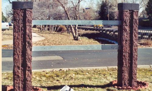 Mortarless brick gates