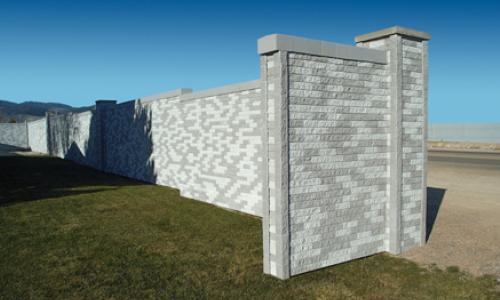Mortarless brick wall white